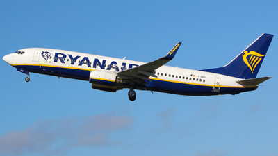 A picture of EIDPZ - Boeing 7378AS - Ryanair - © Jamie PD