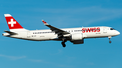 A picture of HBJCI - Airbus A220300 - Swiss - © GoldenWingPix