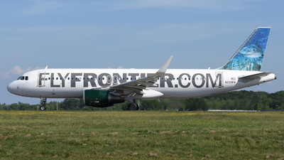 A picture of N220FR - Airbus A320214 - Frontier Airlines - © DJ Reed - OPShots Photo Team