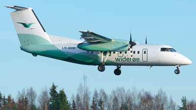 A picture of LNWIW - De Havilland Canada Dash 8100 - Wideroe - © Laszlo Fekete