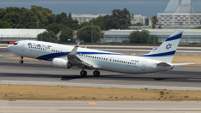 A picture of 4XEHD - Boeing 737958(ER) - El Al - © TFF4000