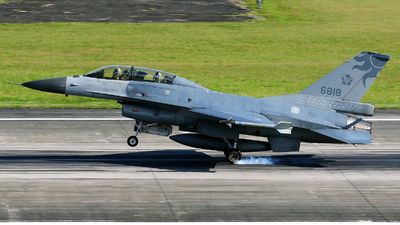 6818 - General Dynamics F-16B Fighting Falcon - Taiwan - Air Force