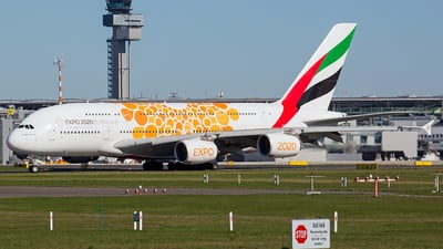 A picture of A6EOA - Airbus A380861 - Emirates - © Rainer Spoddig