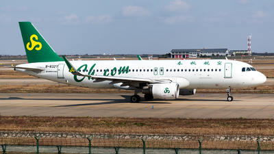 A picture of B8327 - Airbus A320214 - Spring Airlines - © Smiling SHA