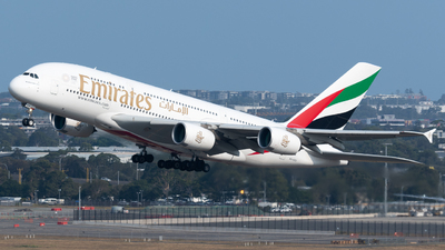 A picture of A6EEO - Airbus A380861 - Emirates - © Andrew Wu