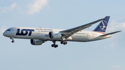A picture of SPLSG - Boeing 7879 Dreamliner - LOT - © Haocheng Fang
