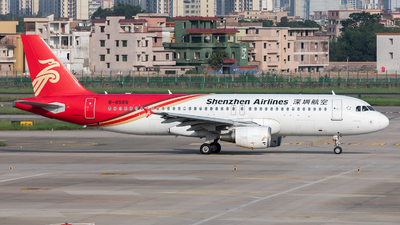 A picture of B6565 - Airbus A320214 - Shenzhen Airlines - © Jack  Li
