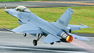 6636 - General Dynamics F-16A Fighting Falcon - Taiwan - Air Force
