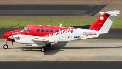 VH-AMS - Beechcraft B200C Super King Air - Ambulance Service of NSW (RFDS)