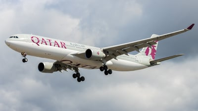 A picture of A7AED - Airbus A330302 - Qatar Airways - © DanCplanePics