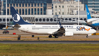 A picture of B5348 - Boeing 73785N - Shandong Airlines - © Aaron_ZSAM