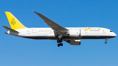 A picture of V8DLC - Boeing 7878 Dreamliner - Royal Brunei Airlines - © Eric Esots