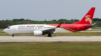 A picture of B5357 - Boeing 7378AL - Shenzhen Airlines - © ceci wong