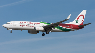 A picture of CNROS - Boeing 7378B6 - Royal Air Maroc - © Sierra Aviation Photography
