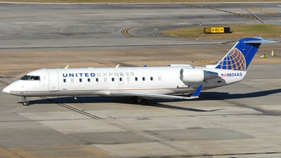 A picture of N854AS - Mitsubishi CRJ200LR - United Airlines - © Jason Whitebird