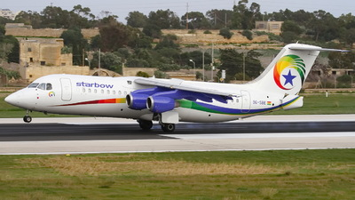 9G-SBE - British Aerospace Avro RJ100 - Starbow Airlines