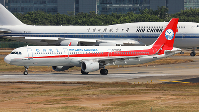A picture of B8687 - Airbus A321211 - Sichuan Airlines - © Harley Guo