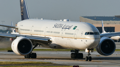 A picture of HZAK34 - Boeing 7773FG(ER) - Saudia - © bill wang