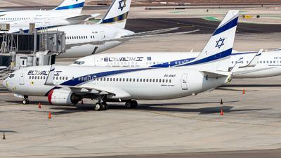 A picture of 4XEKC - Boeing 737858 - El Al - © Noam Herman