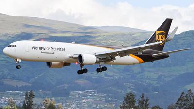 A picture of N319UP - Boeing 76734AF(ER) - UPS Airlines - © Juan Andres Saavedra