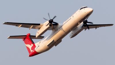 A picture of VHQOB - De Havilland Canada Dash 8400 - QantasLink - © Andrew Wu