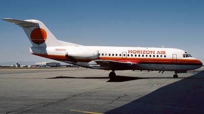 N801PH - Fokker F28-1000 Fellowship - Horizon Air