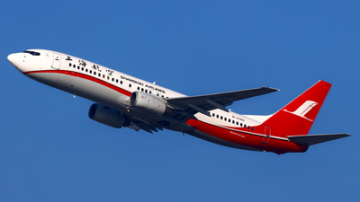 A picture of B5140 - Boeing 7378Q8 - Shanghai Airlines - © Stefano R