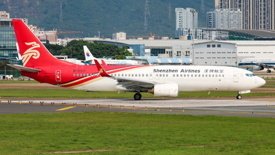 A picture of B5317 - Boeing 73786N - Shenzhen Airlines - © libohang