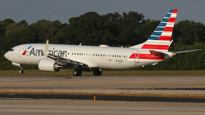 A picture of N336RU - Boeing 737 MAX 8 - American Airlines - © James Bruno