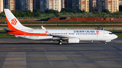 A picture of B1228 - Boeing 7378KF - Okay Airways - © LingFeng