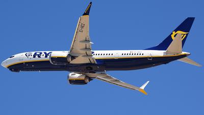 A picture of EIHEZ - Boeing 737 MAX 8200 - Ryanair - © John Fitzpatrick