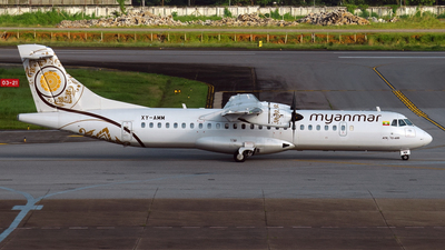 A picture of XYAMM - ATR 72600 - Myanmar National Airlines - © Marthunis