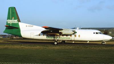 G-CEXF - Fokker F27-500 Friendship - Channel Express