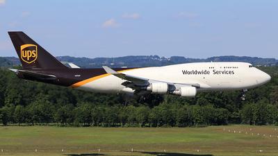 A picture of N578UP - Boeing 74745E(BCF) - UPS - © Helmut Schnichels
