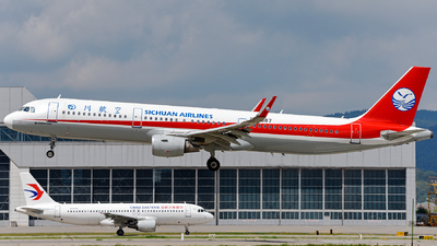 A picture of B8687 - Airbus A321211 - Sichuan Airlines - © guweishi