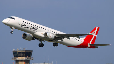 A picture of OYGDC - Embraer E195LR - Great Dane Airlines - © Andreas Fietz