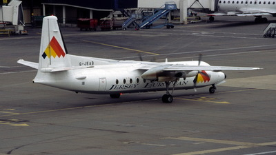 G-JEAB - Fokker F27-500 Friendship - Jersey European Airways