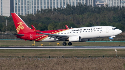 A picture of B5618 - Boeing 73787L - Shenzhen Airlines - © skerry