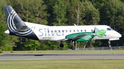 A picture of N417XJ - Saab 340B - Silver Airways - © Jake Sevigny - kmht.jake