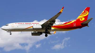 A picture of B5581 - Boeing 73784P - Hainan Airlines - © wangpaul