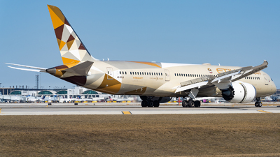 A picture of A6BLQ - Boeing 7879 Dreamliner - Etihad Airways - © Haocheng Fang