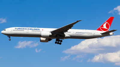 A picture of TCJJG - Boeing 7773F2(ER) - Turkish Airlines - © AGUIJUN-Lei