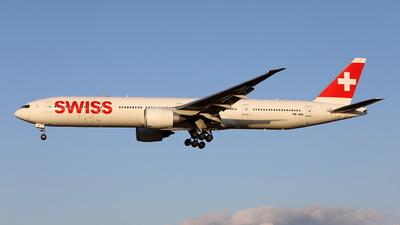A picture of HBJNH - Boeing 7773DE(ER) - Swiss - © kouyagi