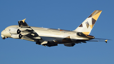 A picture of A6API - Airbus A380861 - Etihad Airways - © John Fitzpatrick