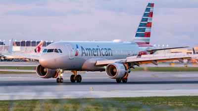 A picture of N9011P - Airbus A319115 - American Airlines - © Haocheng Fang
