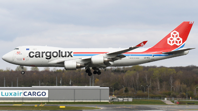 A picture of LXKCL - Boeing 7474HAF(ER) - Cargolux - © Tom Mousel