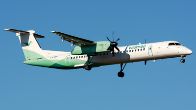 A picture of LNWDJ - De Havilland Canada Dash 8400 - Wideroe - © Laszlo Fekete