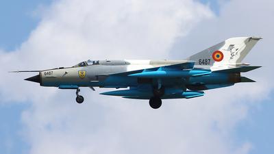 6487 - Mikoyan-Gurevich MiG-21MF Lancer C - Romania - Air Force