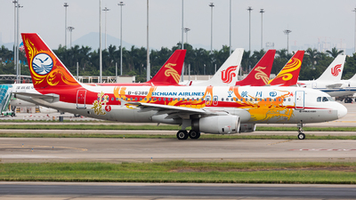 A picture of B6388 - Airbus A320232 - Sichuan Airlines - © Jack  Li