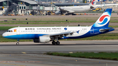 A picture of B6620 - Airbus A320214 - Chongqing Airlines - © ZGGG RWY01